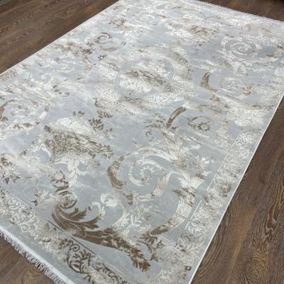 Ковер Турция New Для Гостиной Дизайн 17 Серый с Коричневым