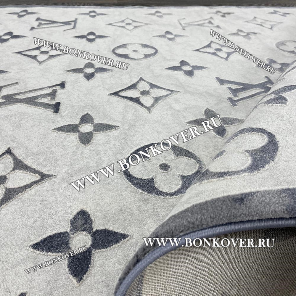 Ковер Турция New Для Гостиной Дизайн 01 Серый