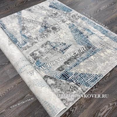 Ковер Турция New Для Гостиной Дизайн 02 Серый с Синим