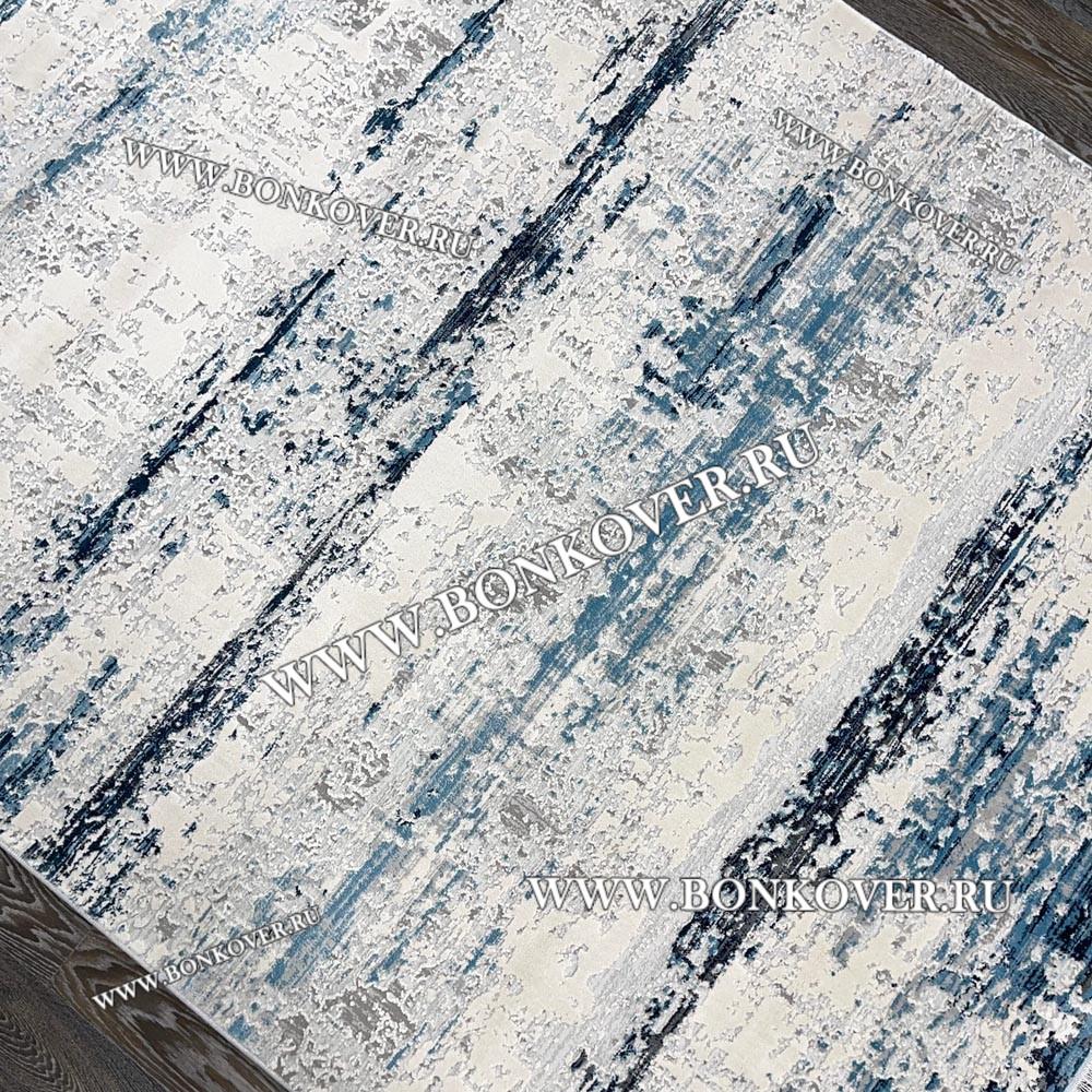 Ковер Турция New Для Гостиной Дизайн 16 Синий с Серым