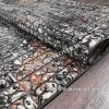 Турецкий Абстрактный Ковер Дизайн 12 Черный Прямоугольный