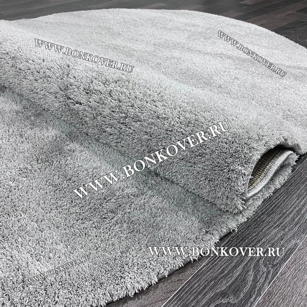 Ковер Плюшевый Однотонный Grey Овальный