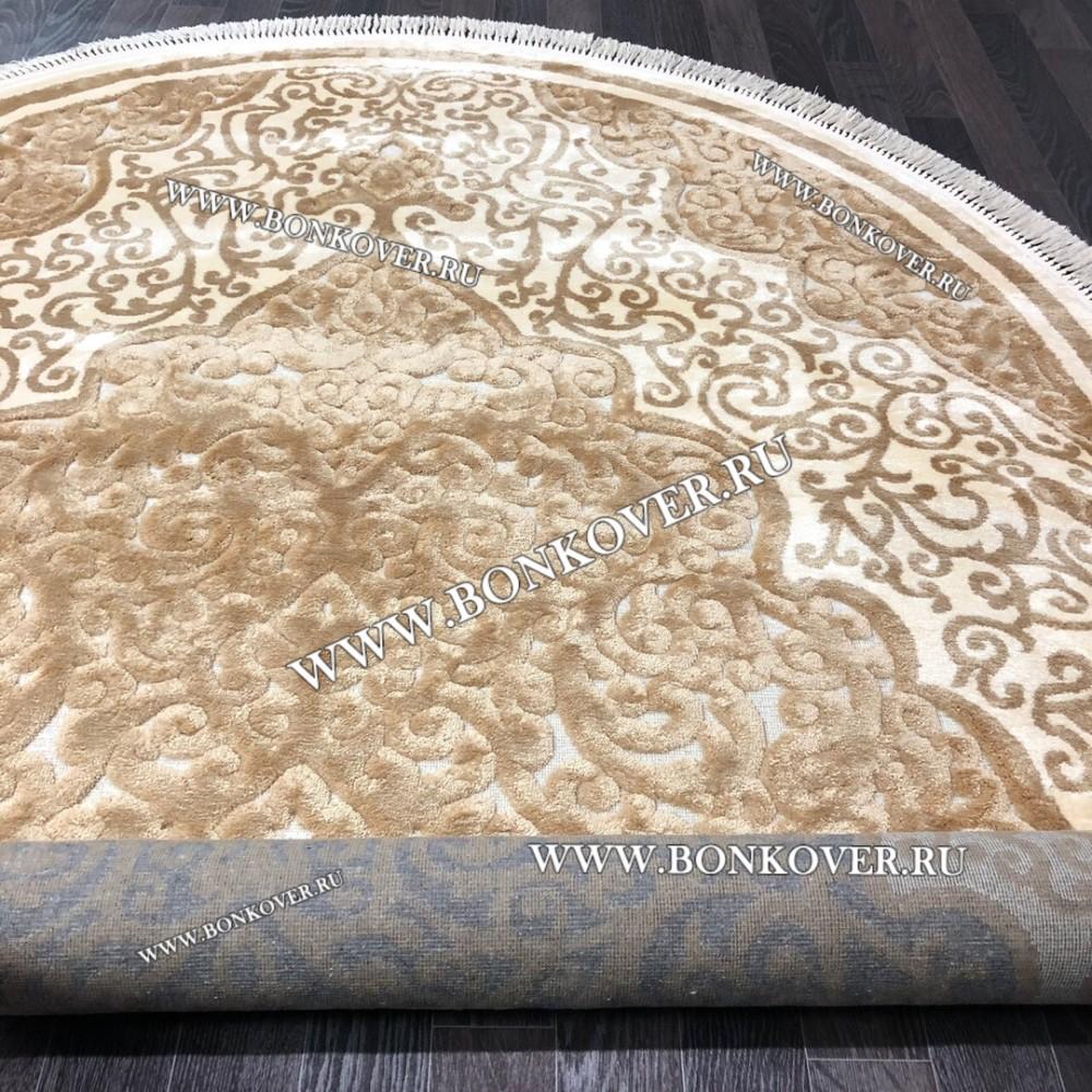 Ковер для Гостиной Бельгия Вискоза Арт 0493 Gold Овальный