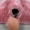 Турецкий Ковер с Длинным Ворсом Однотонный Розовый