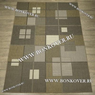 Безворсовый ковер Циновка Дизайн 03 Brown Прямоугольный