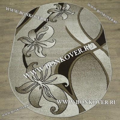 Ковер Карпет Рисунок 05 Цветок Овальный