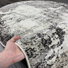 Ковер Карпет Рисунок 22 Абстракция Серый Овальный