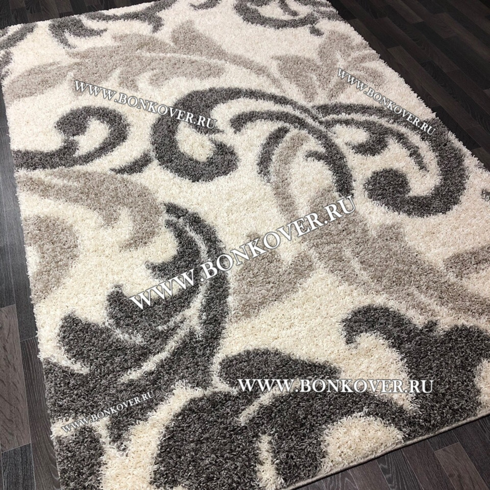Длинноворсный ковер Дизайн 03 Серый Прямоугольный