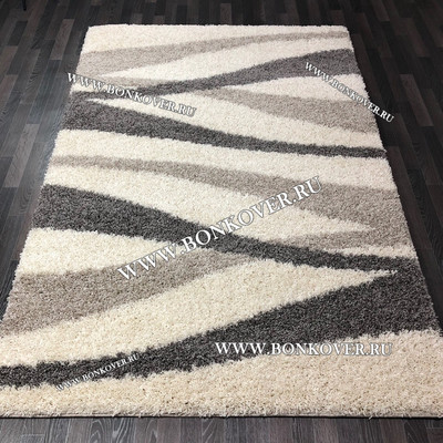 Длинноворсный ковер Дизайн 05 Серый Прямоугольный