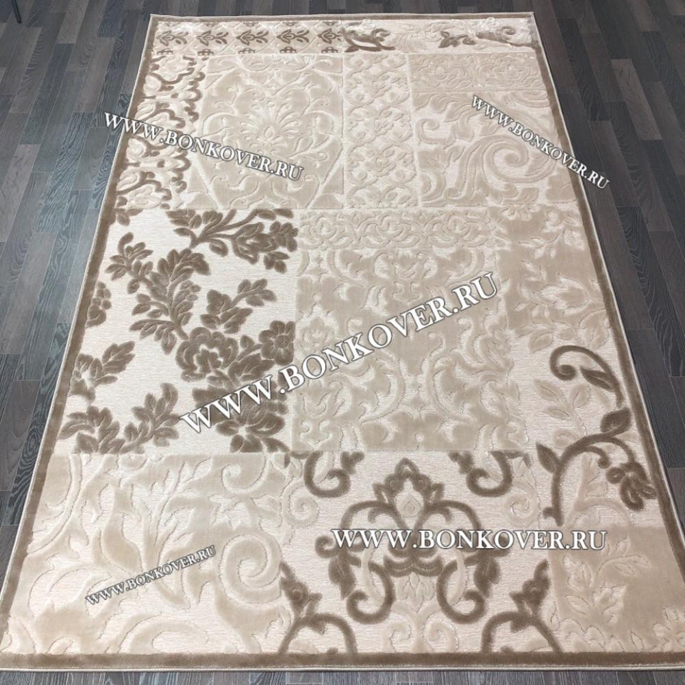 Ковер Рельефный Рисунок 24 Бежево-коричневый Прямоугольный