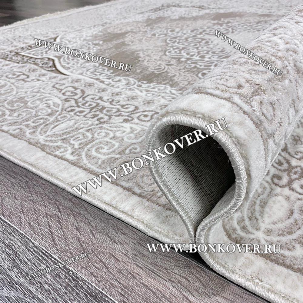 Ковер Коротковорсный Лайт Дизайн 11 Светло-Серый с Белым