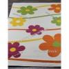 Детский Ковер Дизайн 079 Ромашки Белый Прямоугольник