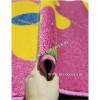 Детский Ковер Дизайн 079 Ромашки Розоавый Прямоугольник
