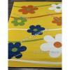 Детский Ковер Дизайн 079 Ромашки Желтый Прямоугольник