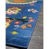 Детский Ковер Дизайн 069 Совята Синий Прямоугольник