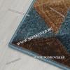 Ковер Графика Дизайн 12 Беж-Синий Прямоугольник
