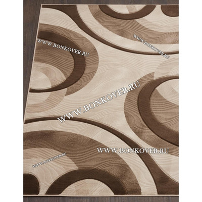 Ковер Рельефный Дизайн 06 Бежево-коричневый Прямоугольный