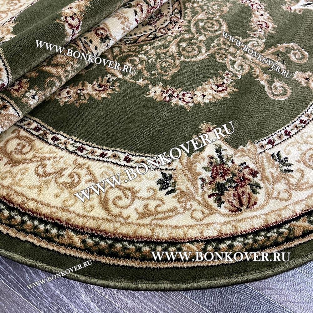Ковер Лайт Карпет New Дизайн 07 Зеленый Овальный