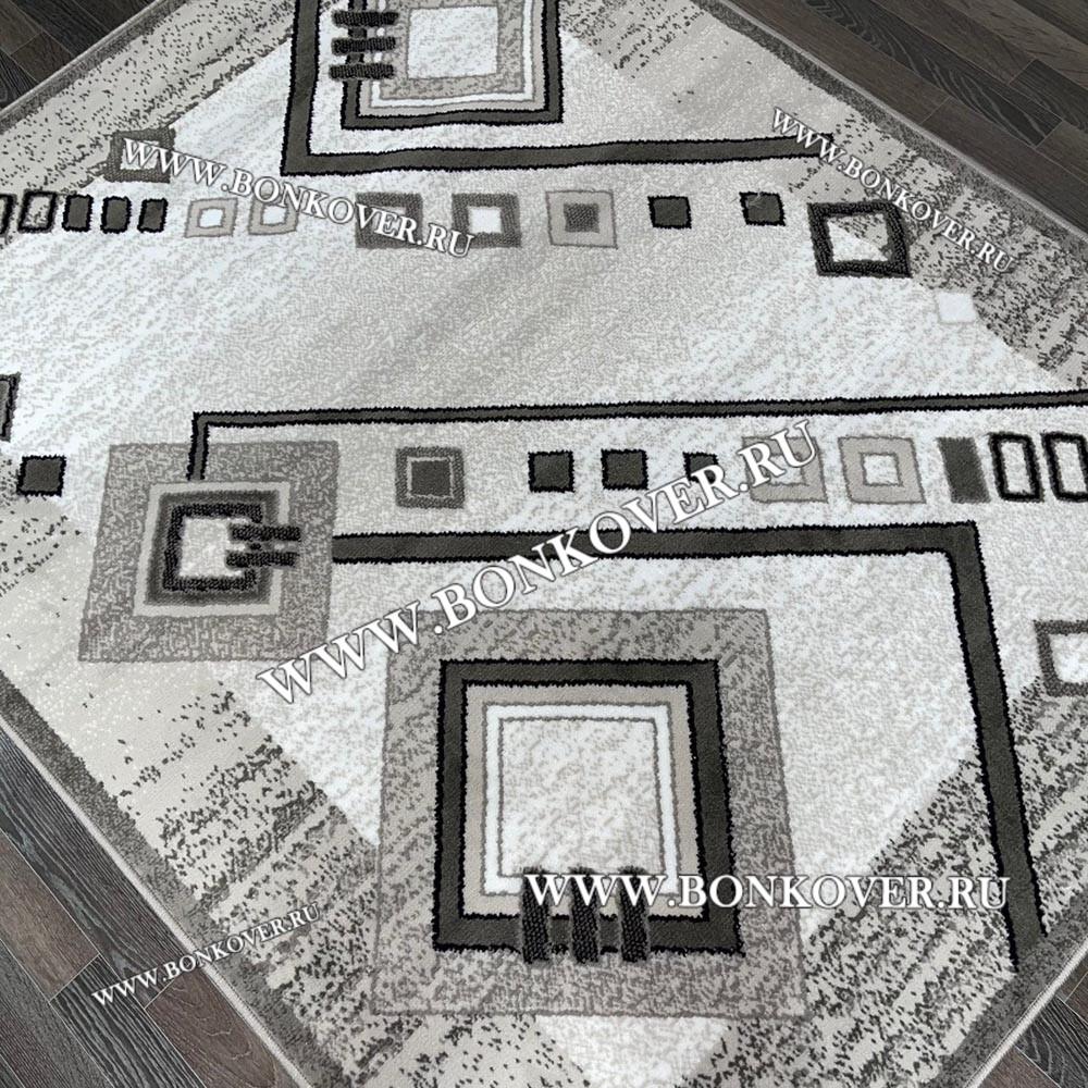 Ковер Лайт Карпет New 2 Дизайн 02 Серый Прямоугольный