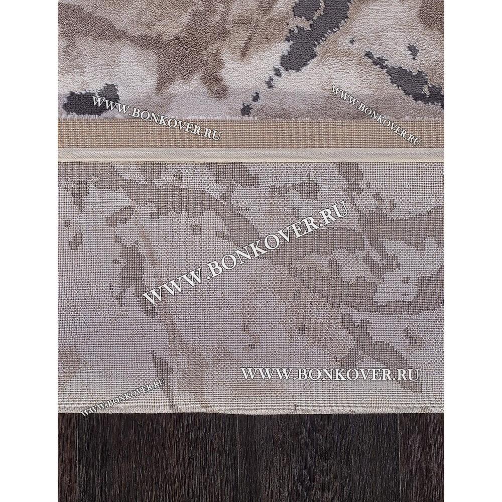Турецкий Ковер Для Гостиной Дизайн 19 Серый с Коричневым Прямоугольный