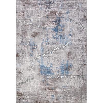 Турецкий Ковер Для Гостиной Дизайн 30 Синий с Серым Прямоугольный