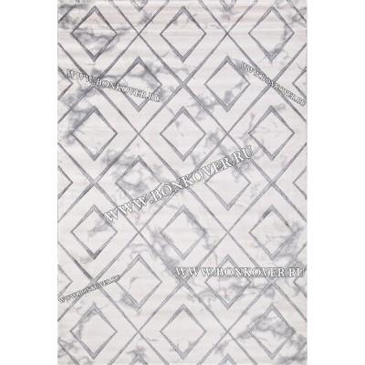 Ковер Для Гостиной Геометрия Дизайн 06 Светло-Серый
